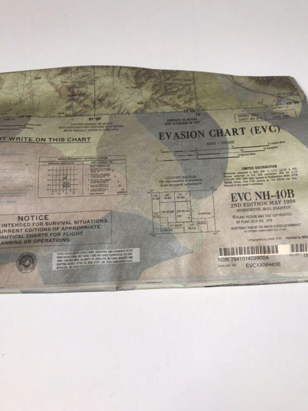 PILOT'S ESCAPE MAP...EVASION CHART MAP EVC NH-40B Afghanistan IRAN Pakistan 1998