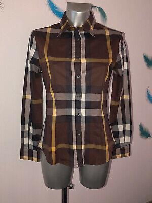 Luxueuse chemise tartan marron burberry london taille s (38 fr 42i) etat neuve