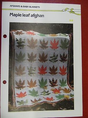 (Maple Leaf Afghan crochet PATTERN INSTRUCTIONS FREE SHIPPING)