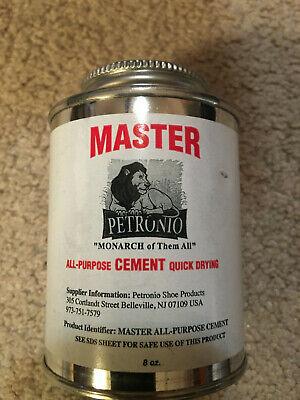 Master All Purpose Cement 8oz Brush In Can - Shoe Repair Cement- Shoe Glue