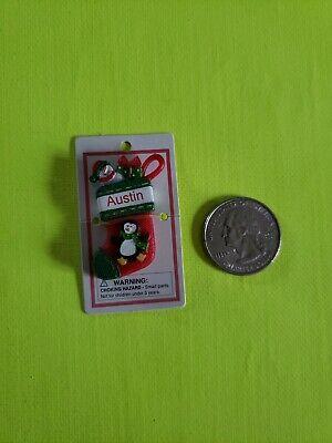 Itsy Bitsy Stocking Ornament name Austin Mini Ganz personalized Christmas ()