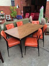 Table & 6 Chairs,Retro furniture,WE DELIVER,Dining,Kitchen Set Brunswick Moreland Area Preview