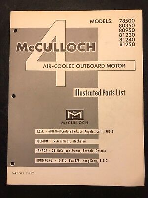 1965-66 McCulloch 4 HP Outboard Motor Illustrated Parts List