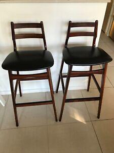 Vintage Danish bar stools