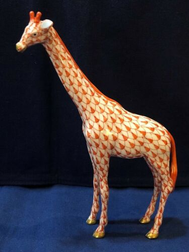 Herend Figurine - Giraffe - Rust Fishnet
