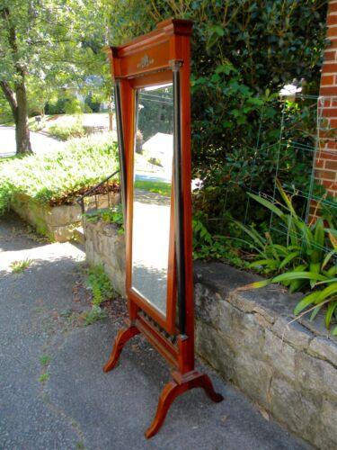 In the style of Biedermeier Cheval Mirror