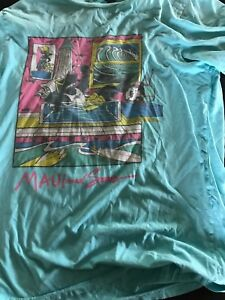 Blue shirt with sharks by Maui and sons