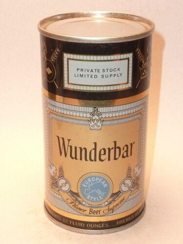 12oz Wunderbar Pilsner Beer Flat Top ** Clean Can!! **