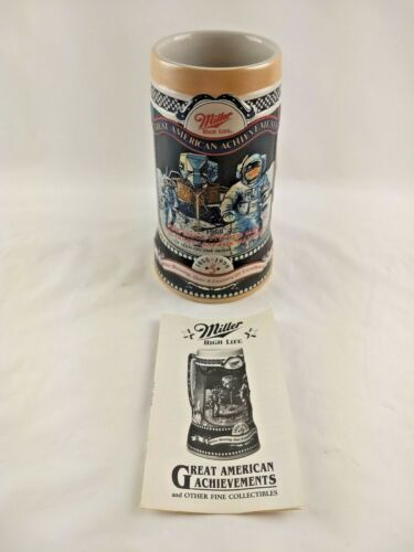 Miller High Life Beer Stein Great American Achievements NASA w/ Paperwork