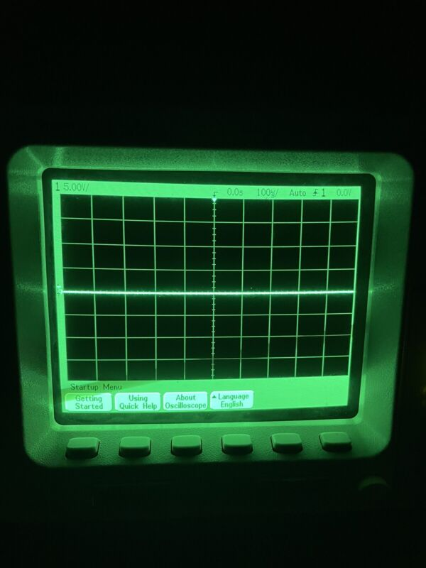 PARTS - AGILENT 54621A MEGA ZOOM 2 CHANNEL OSCILLOSCOPE 60 MHz 200 MSa/s 5262