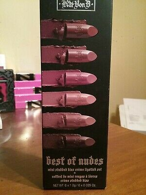 Kat Von D Best of Nudes Mini Studded Kiss Crème Lipstick Set 6 Colors New in