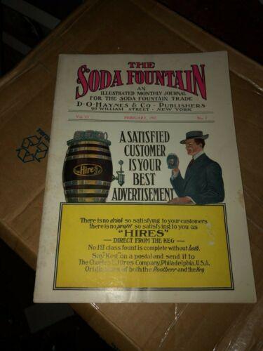 "VINTAGE RARE CRISP c.1907 ""THE SODA FOUNTAIN"" MAGAZINE FOR THE TRADE HIRES SODA"