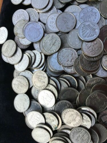 270 Car Wash/Arcade /Etc Token, Many Weiss Guy 3.4 Lb Total .984 25mm