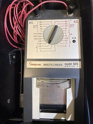 Vintage Simpson Multicorder 604 Dc Ac Volt Amp Meter Recorder Printer Used