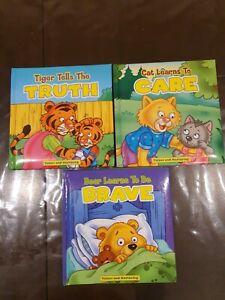 3 Kids toddler books - Values & Nurturing (Truth/ Care/ Brave)