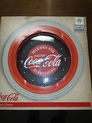 Coca-Cola Red Neon Clock - Delicious And Refreshing - NEW IN BOX!