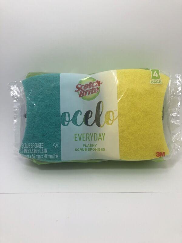Scotch-Brite ocelo Scrub Sponges, 4 Count NEW