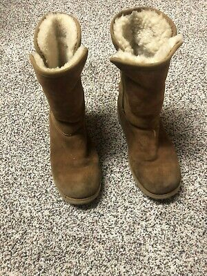Ugg Youth Boots Size 3 Brown