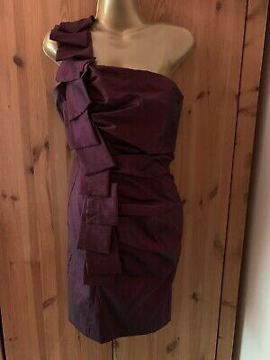 Jessica McClintock One Shoulder Ball/Prom Dress Burgundy 2 Tone Size 12P