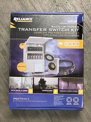 New In Box Reliance - Model 306lrk - 6-circuit Back Up Power Transfer Switch Kit