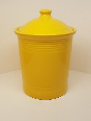 Fiestaware Daffodil Large Canister Fiesta Yellow Covered Kitchen Crock 3 Quart