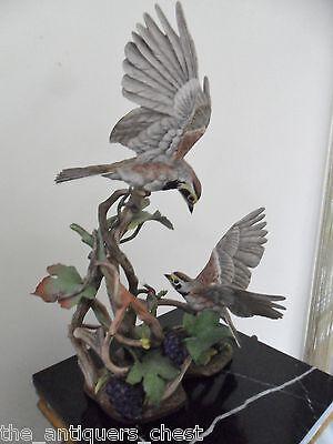 Edward Marshall Boehm Large Birds Sculpture Upst