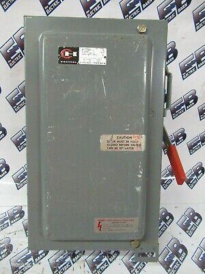 Cutler Hammer 4105h2461h 30 Amp 600 Volt Fusible Vintage Disconnect - Os