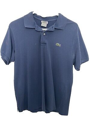 Lacoste LIVE Mens Size 4 Regular Fit Short Sleeve Polo Shirt, Blue