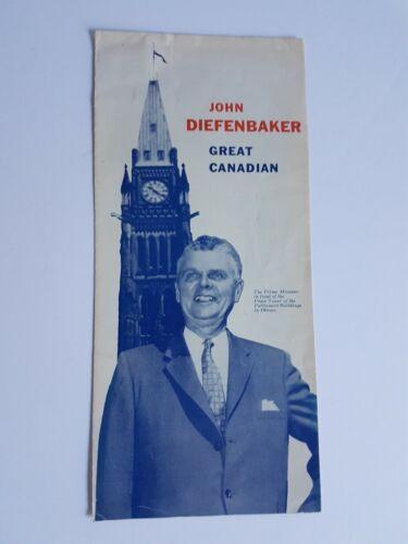 John Diefenbaker PC Conservative Canada Politics Brochure Vintage