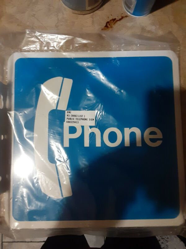 Vintage Public Telephone Pay Phone Booth Double Sided Metal Sign Brand New