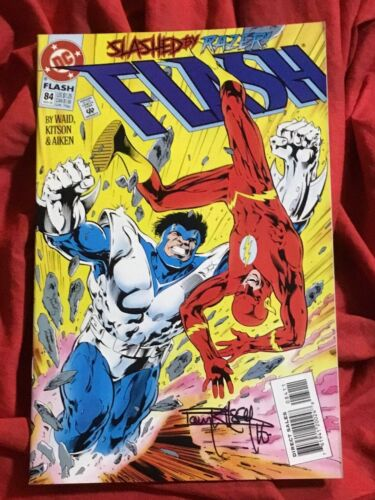 THE FLASH #84~SIGNED BY ARTIST BARRY KITSON~DC COMICS BOOK~B