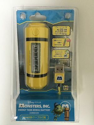 Hamee Disney Monsters INC Energy tank Lightweight battery charger 2900mAh Japan