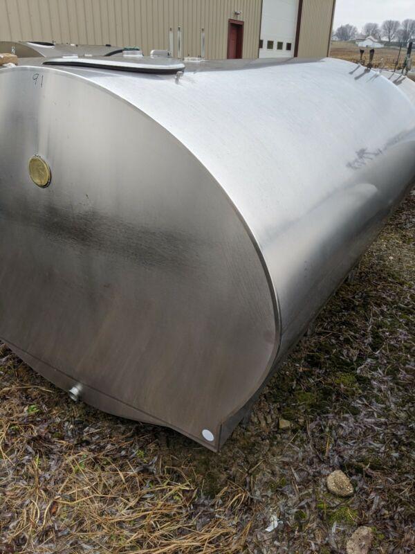 Mueller 1000 Gallon Round Stainless Bulk Tank * Storage Only*