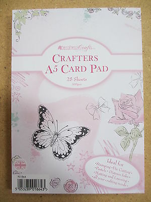 KANBAN 'Crafters A5 Card Pad' *BRAND NEW* *25 sheets 300gsm PLAIN WHITE card*