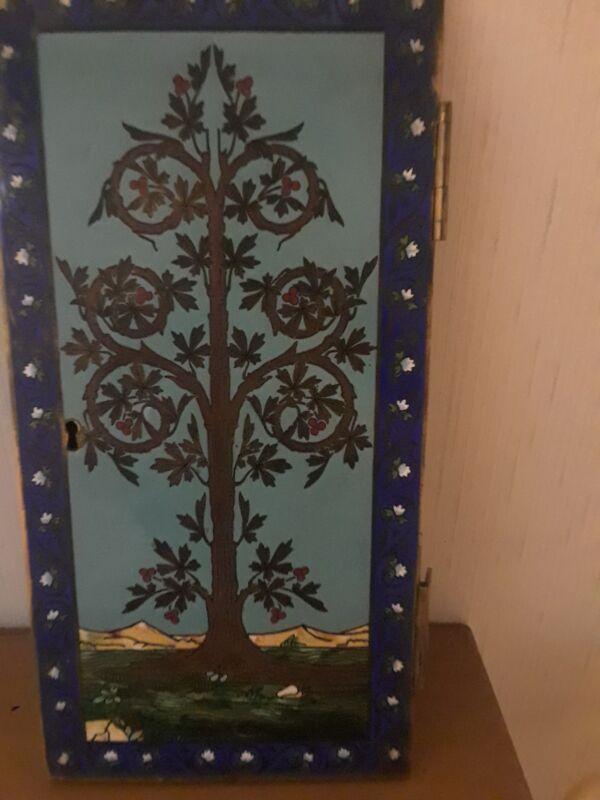 antiques enamel box door.