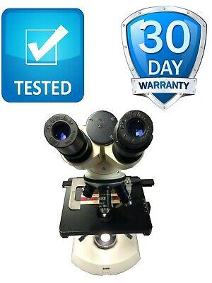 Carl Zeiss Binocular Compound Microscope With 4 Objective Tested Warranty