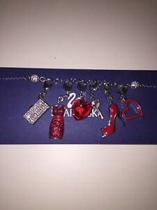 Swarovski Charm Bracelet with 6 Fashionista Charms