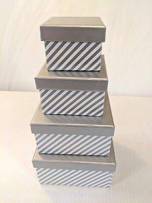 - 4 small nesting Gift Boxes of descending sizes