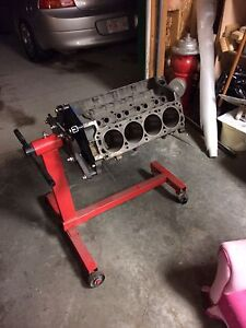 302 small block ford engine block and stand