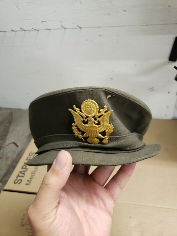 WW2 U.S. ARMY WAC OFFICERS NAMED HAT, SIZE 22, USED CONDITION.