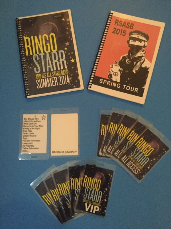 Ringo Starr & His All Starr Band Personal owned items from his 2014-2015 Tours
