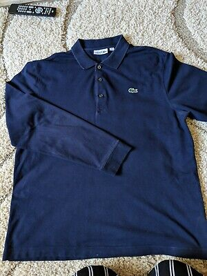 Mens Lacoste Sport Long Sleeved Polo Top Size 5 (Large)