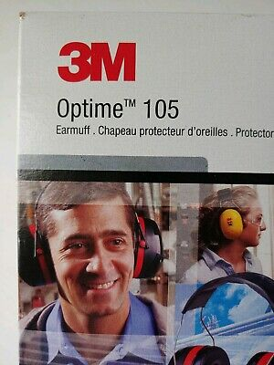 3m Peltor Optime 105 Earmuff Over Ear Protectors Noise Reduction New