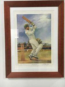 Hand Signed & Framed Alan Border Print by Darcy Doyle o Tingalpa Brisbane South East Preview