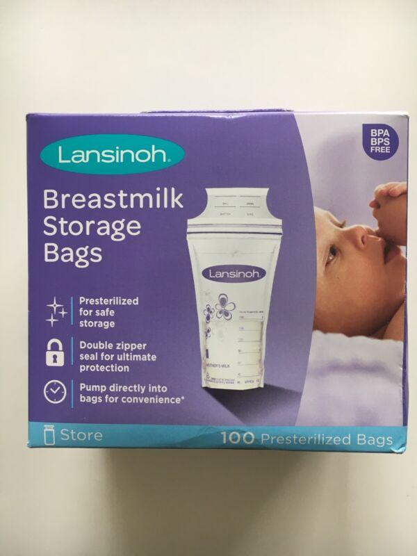 Lansinoh Breastmilk Storage Bag 100 Count Presterilized Bags, SHIPS FREE