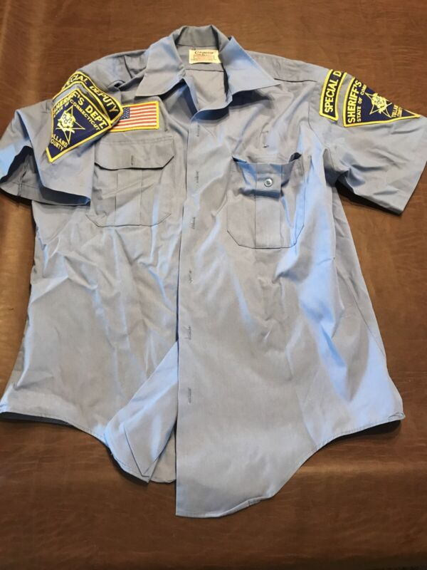 Halloween Sheriffs Uniform Connecticut Uniform Costume Short Sleeve Shirt