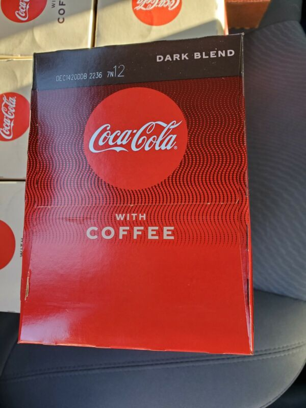 Coca-Cola COKE With Coffee (4) 12oz Cans!  Dark Blend! UNRELEASED! Limited VHTF!