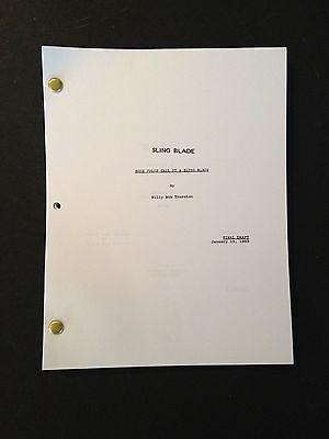 SLING BLADE Oscar Winning Screenplay by BILLY BOB THORNTON Final Draft 1/15/95