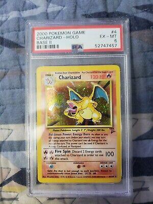 Charizard Base Set 2 Psa 6 Pokemon Card 4/130 READ