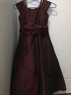 Maroon dress for girls size 6